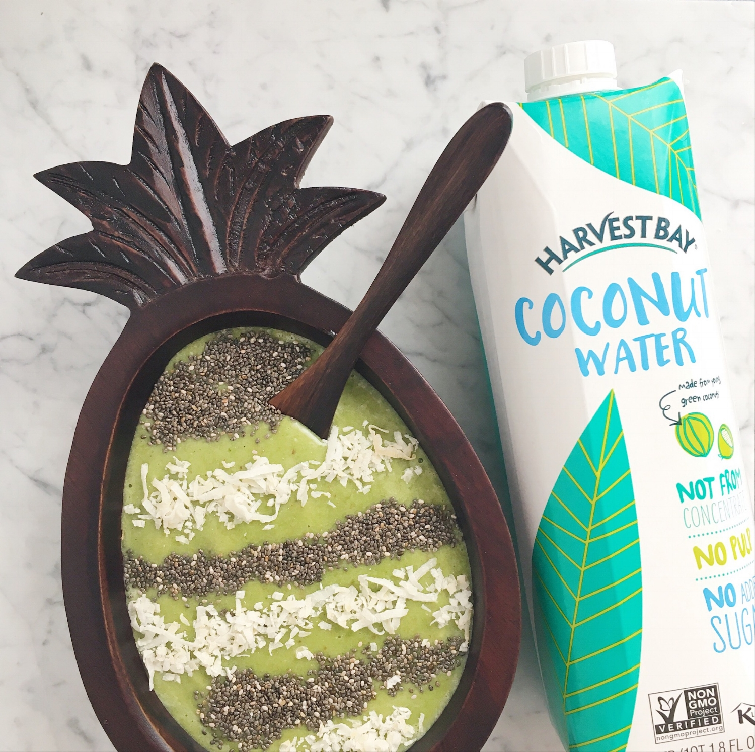 Hydrating Green Smoothie from Girls Got Goalz with Harvest Bay Coconut Water