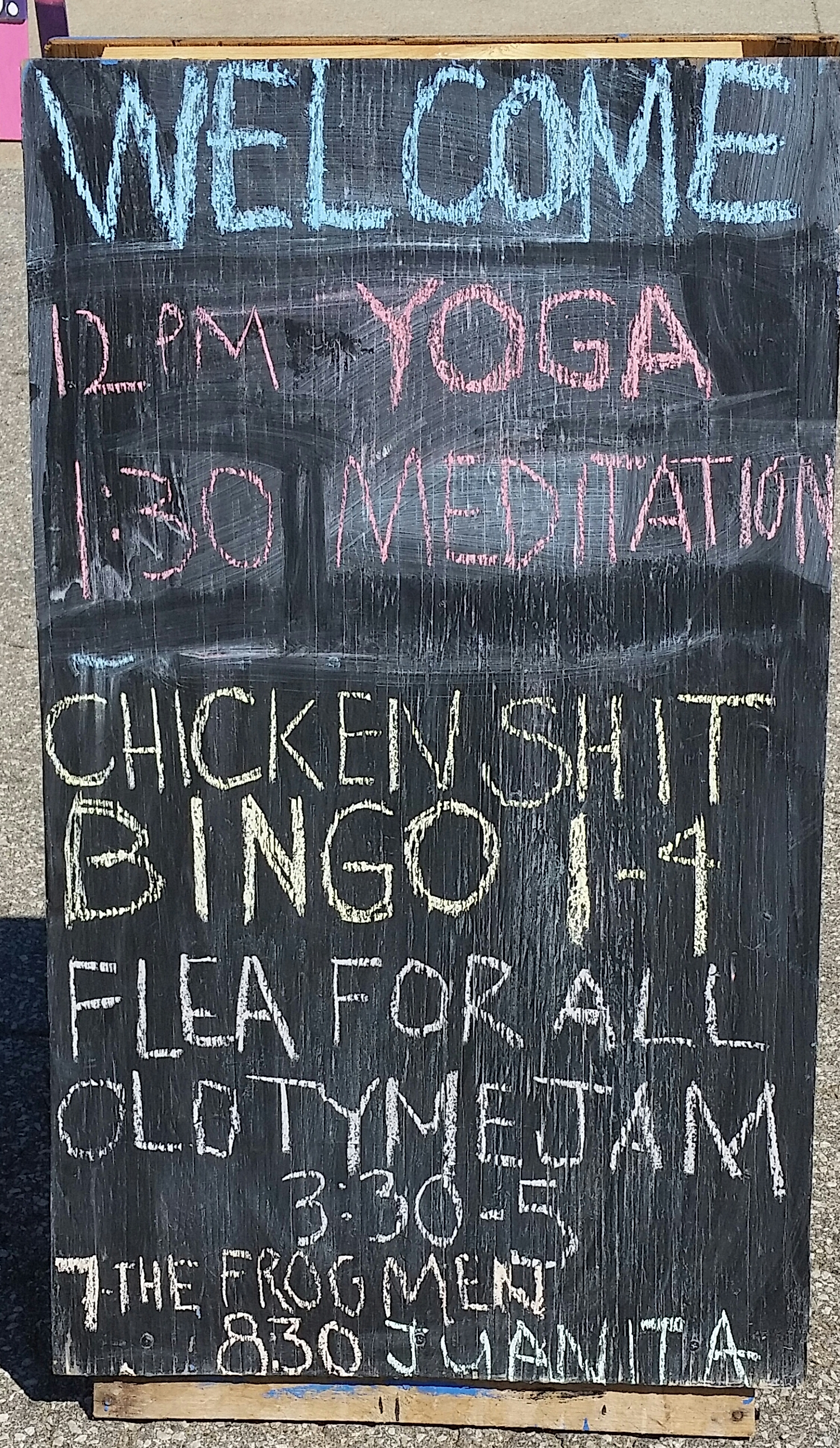 "I don't know what ""chicken shit bingo"" is. But it sounds fun, doesn't it?"