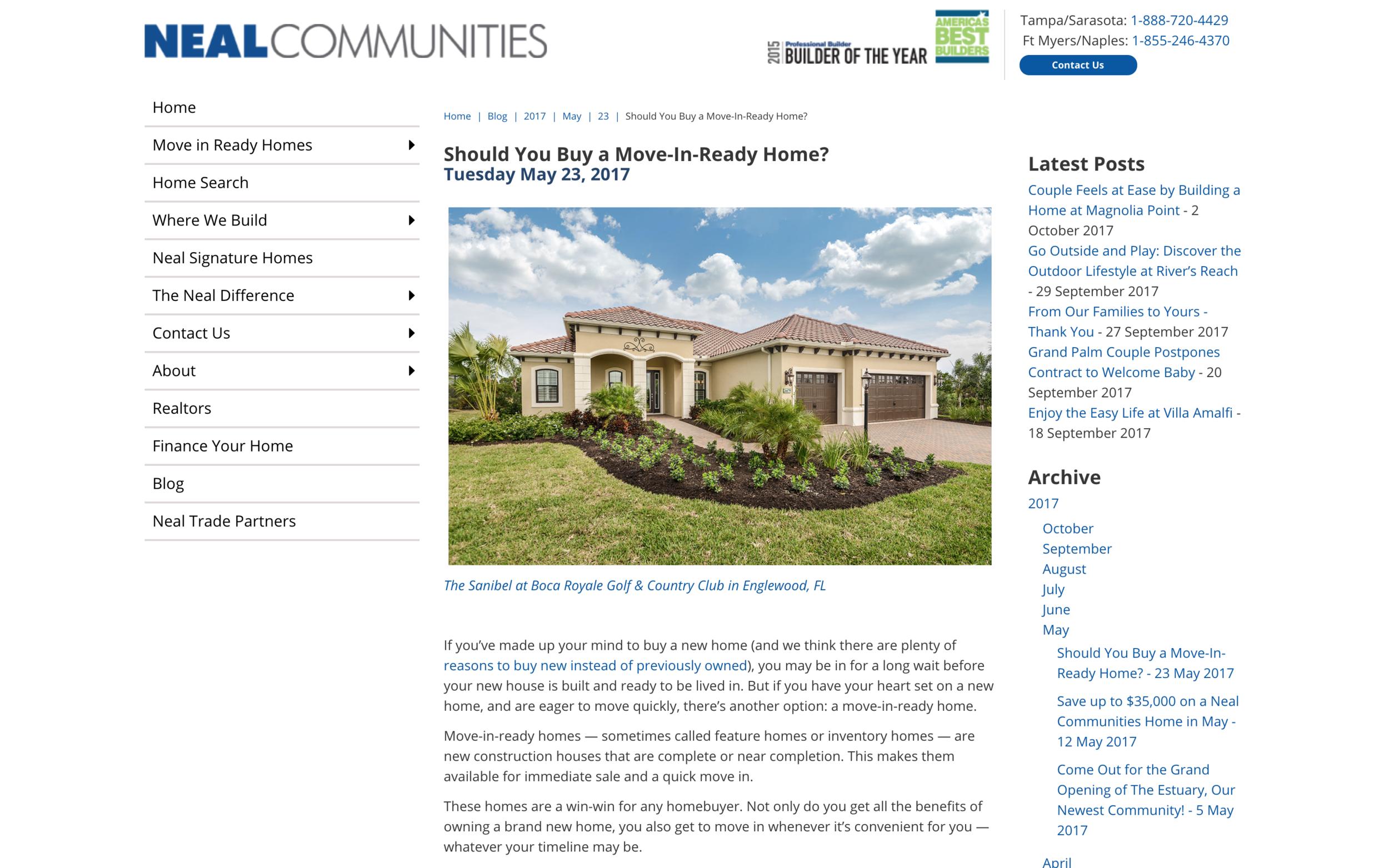 Neal Communities Blog