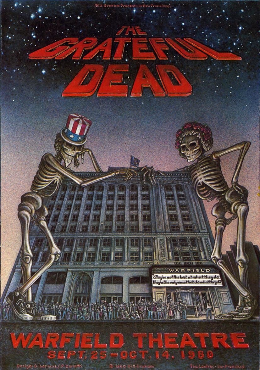 Grateful Dead, Warfield Theatre, San Francisco, 1980