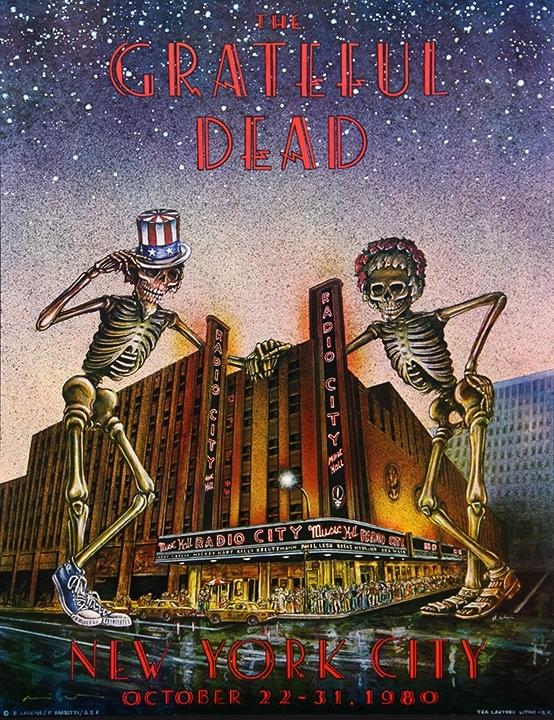 Grateful Dead, Radio City Music Hall, NYC, 1980
