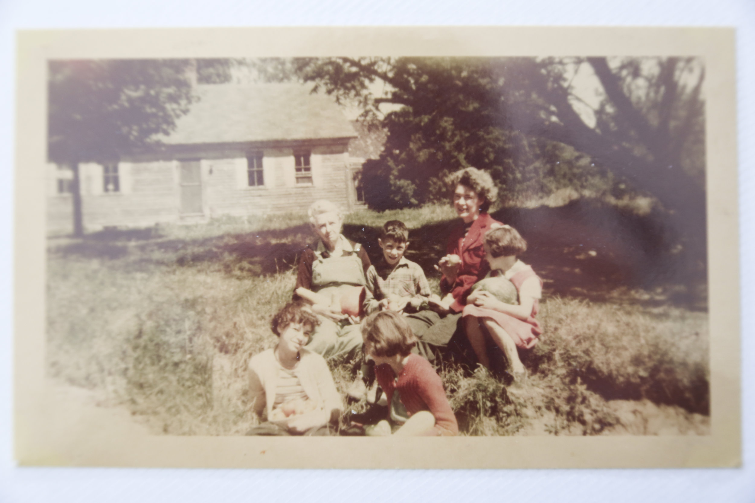 My Great Great Grandmother, my Grandfather in the middle next to my Great Grandmother. Aunt Ginny is one of these girls too, along with my Great Aunt Evelyn.