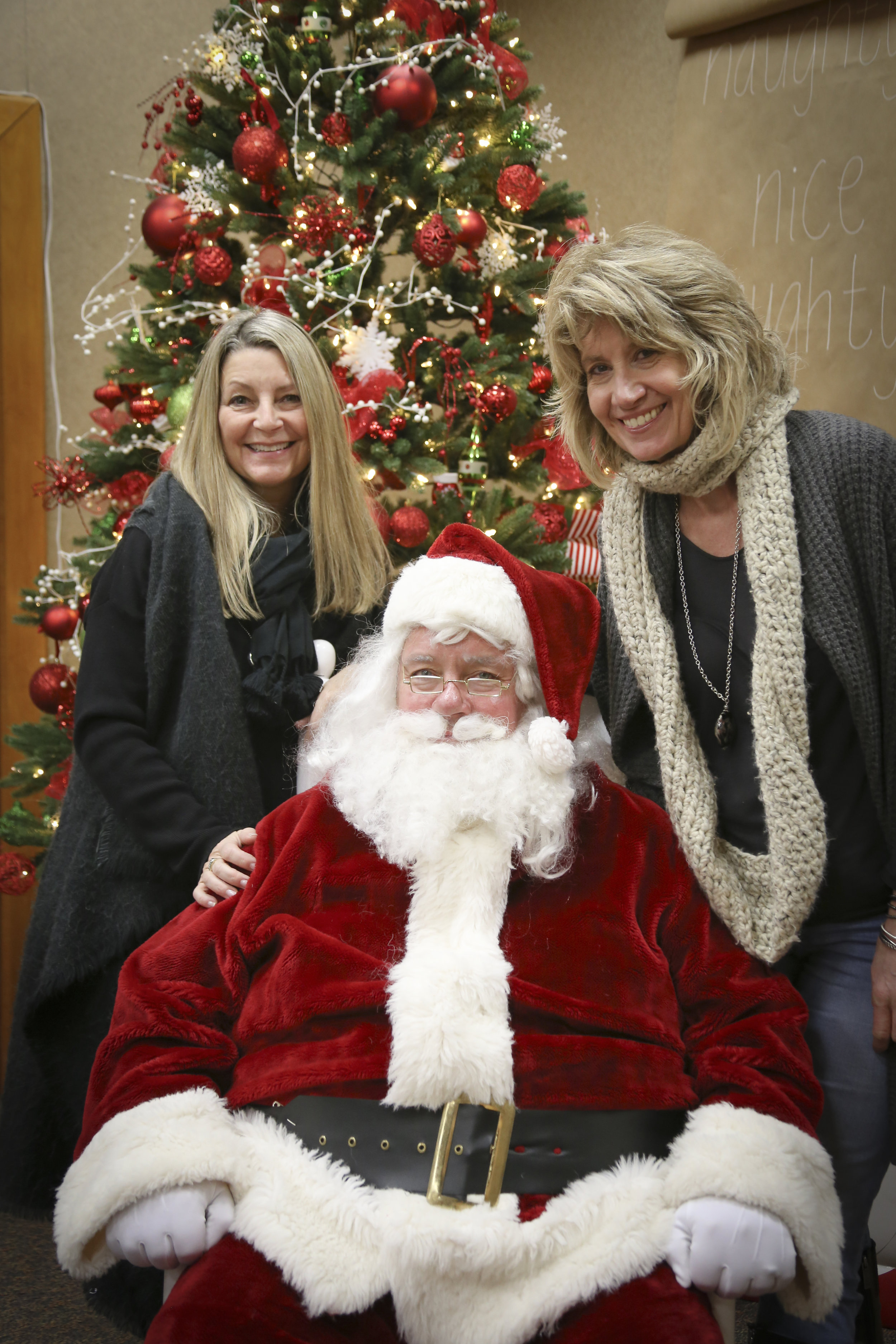 The Grace Ladies! Mikki Lessard, Santa (obviously) and Nancy Feth