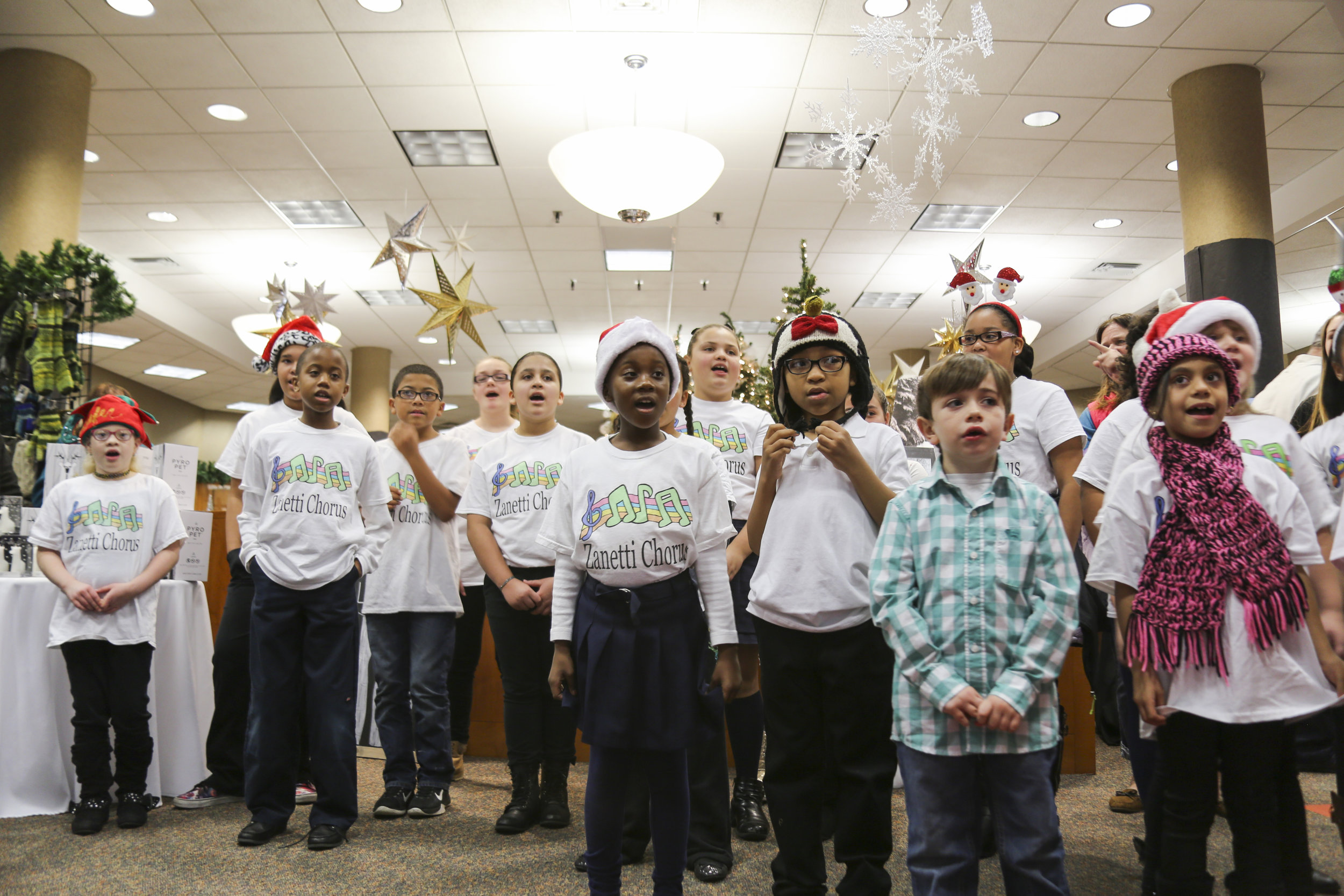 The Zanetti School Choir performs in Springfield.