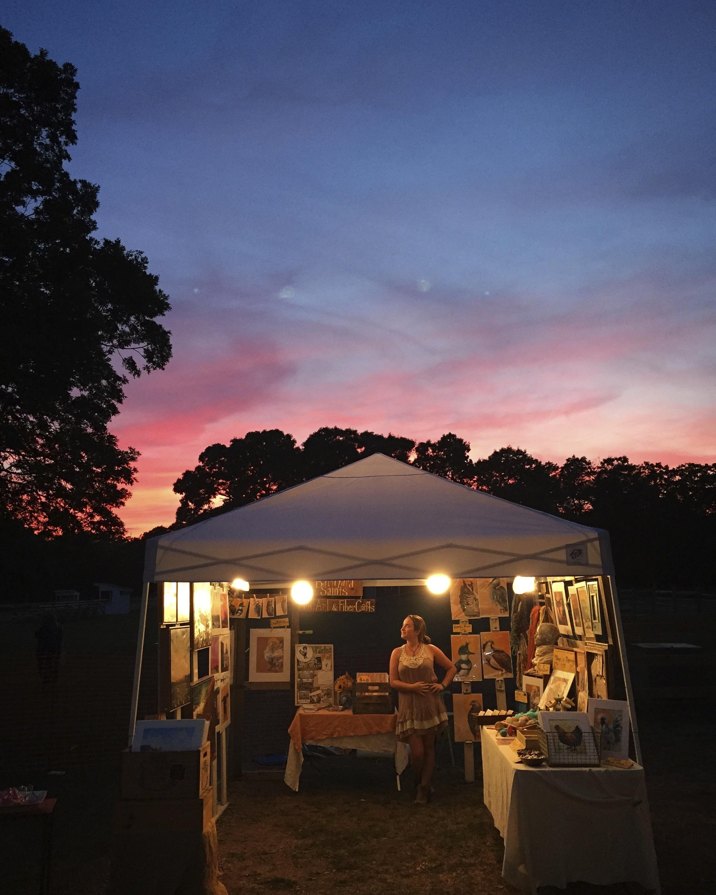 Working the Martha's Vineyard Artisan Fair