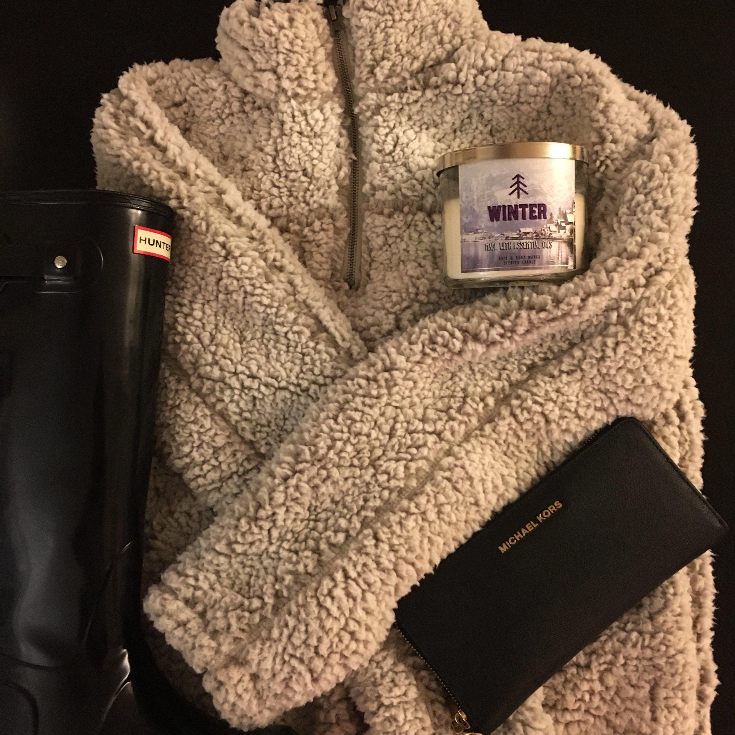 Hunter Boots,   Fleece Pullover ,  Michael Kors Wallet