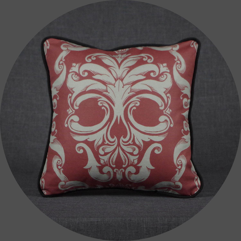 Scrollwork Skull Pillow