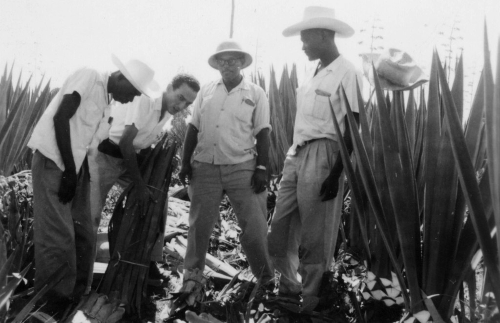 Jean Dominique as a young agronomist in Bayeux, northern Haiti, in 1956 | www.radiohaitilives.com