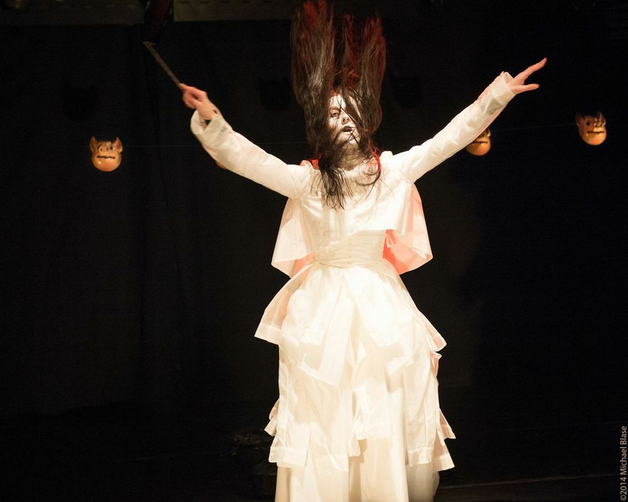 Vangeline in Fifth of Butoh- Butoh Beethoven at Triskelion Arts in 2014. Photo by Michael Blase.