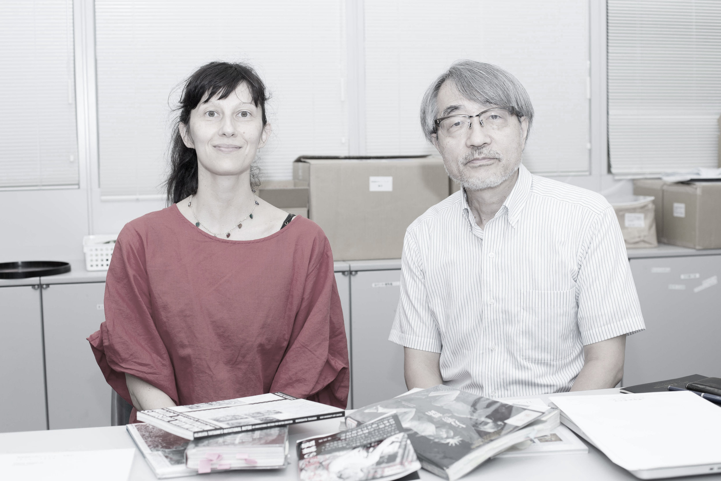 Vangeline and Mr. Morishita, Director of Tatsumi Hijiakata Archives, August 10, 2017- Photo Azumi Oe.
