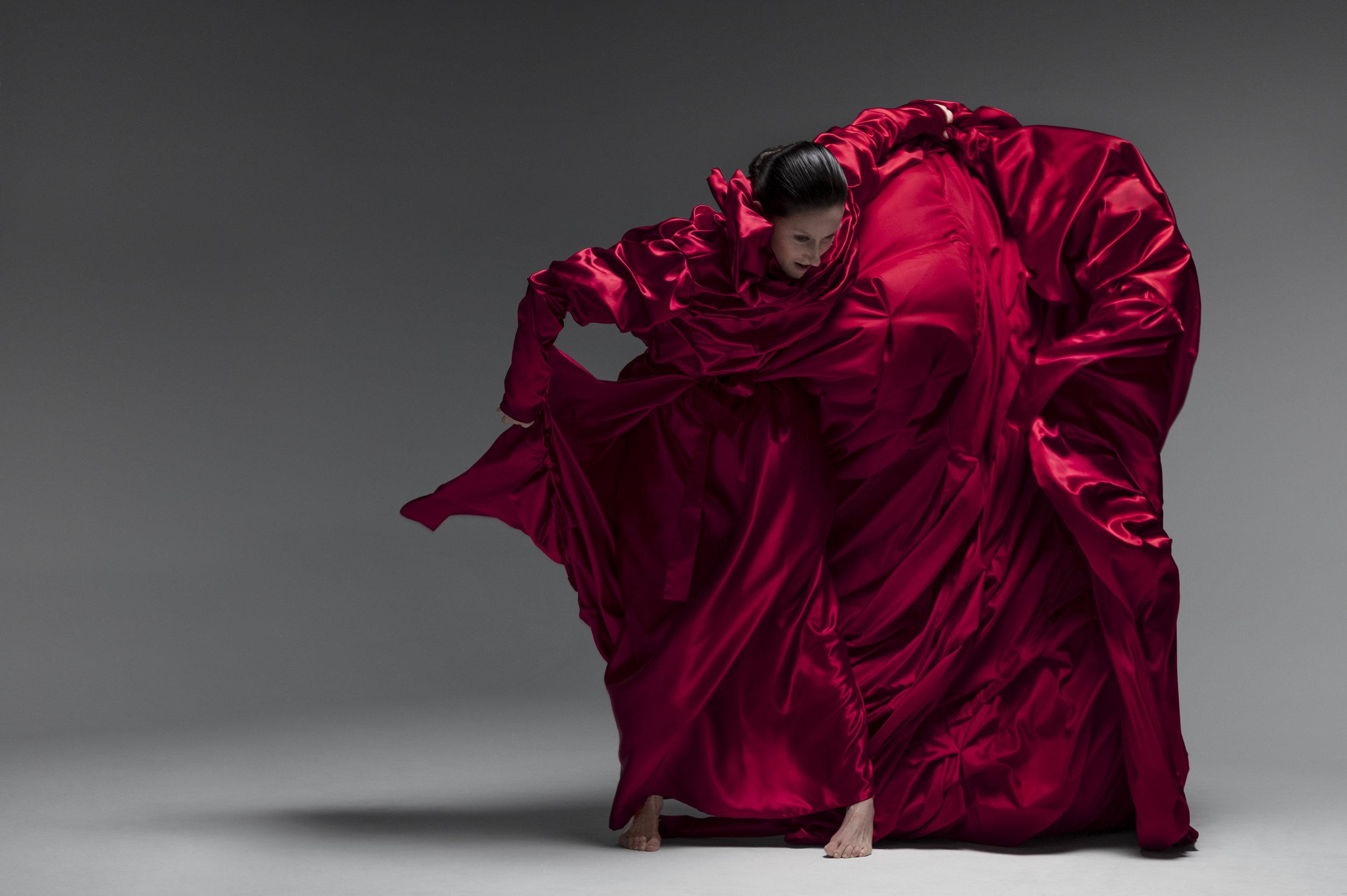 Vangeline wearing the replica of Tatsumi Hijikata's costume by Todd Thomas. Photo by Matthew Placek.