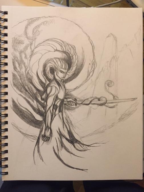 """Shadow Guardian Sketch"" - March, 2016"