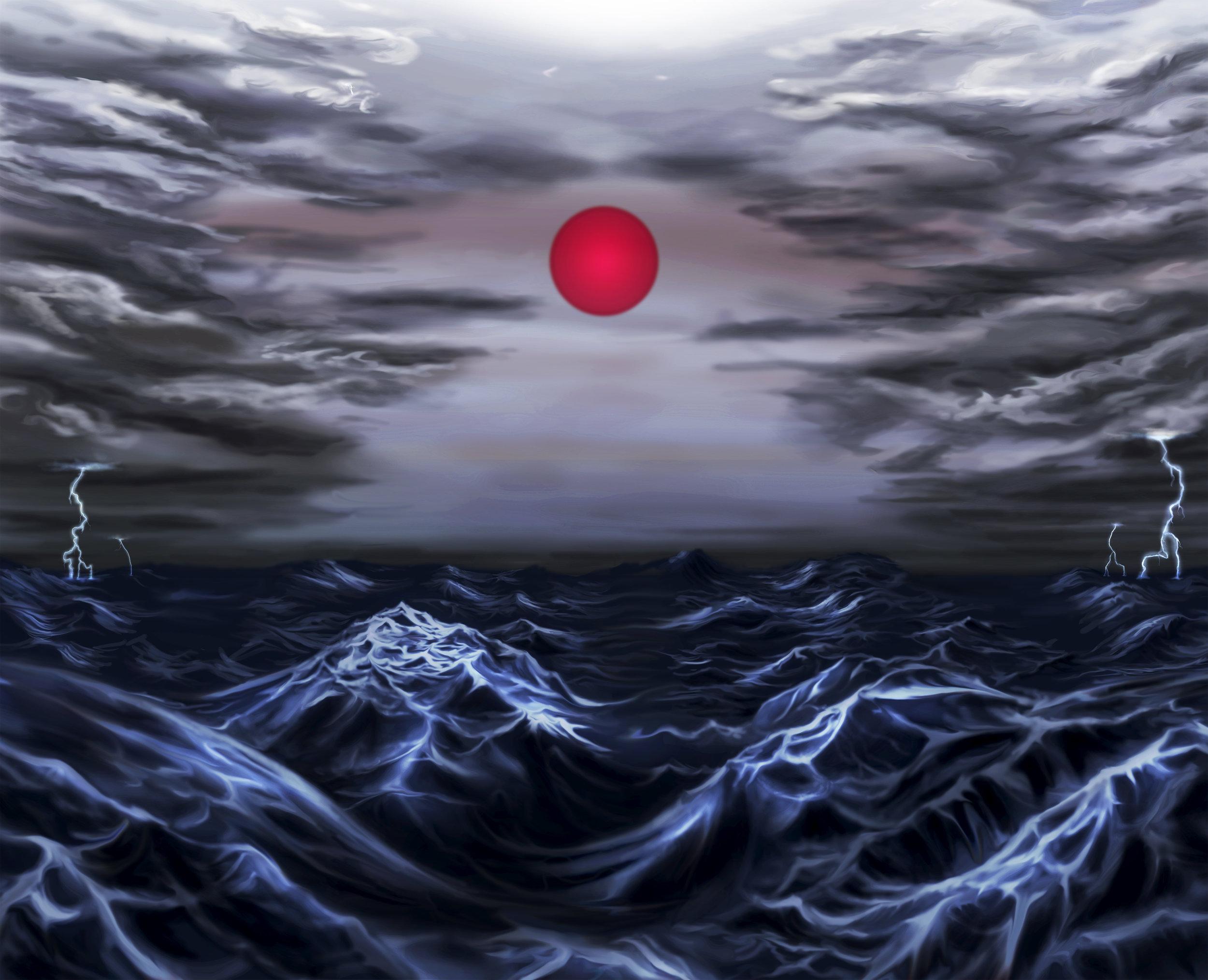 Red Sun Rising - Work in Progress, Photoshop.