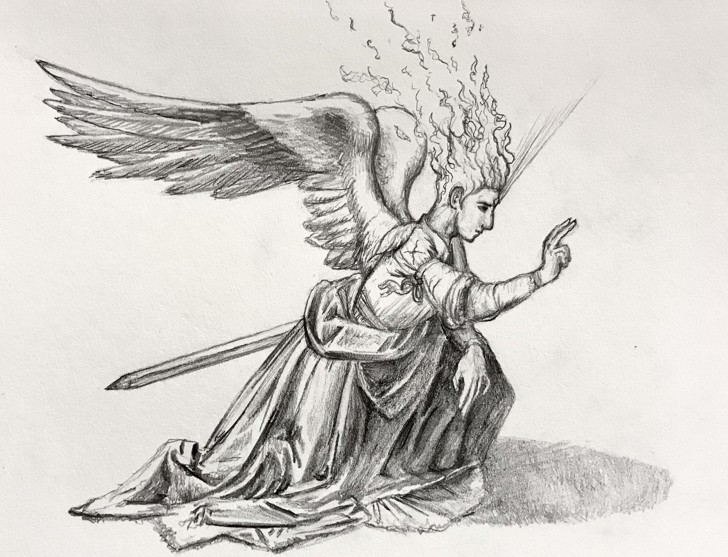 Archangel Gabriel After Leonardo