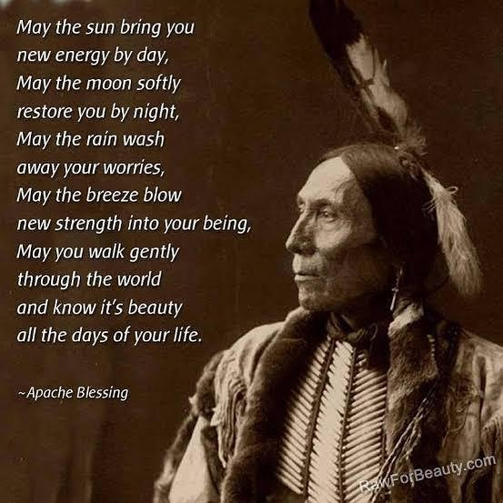 . May you walk gently through the world and know it's beauty all the days of your life. -Apache Blessing. . Respect to our ancestors  They had such insight such Wisdom. I wonder what they would think if they saw  how we are treating our Mother Earth and each other... . .🙏🕊🦅Maya