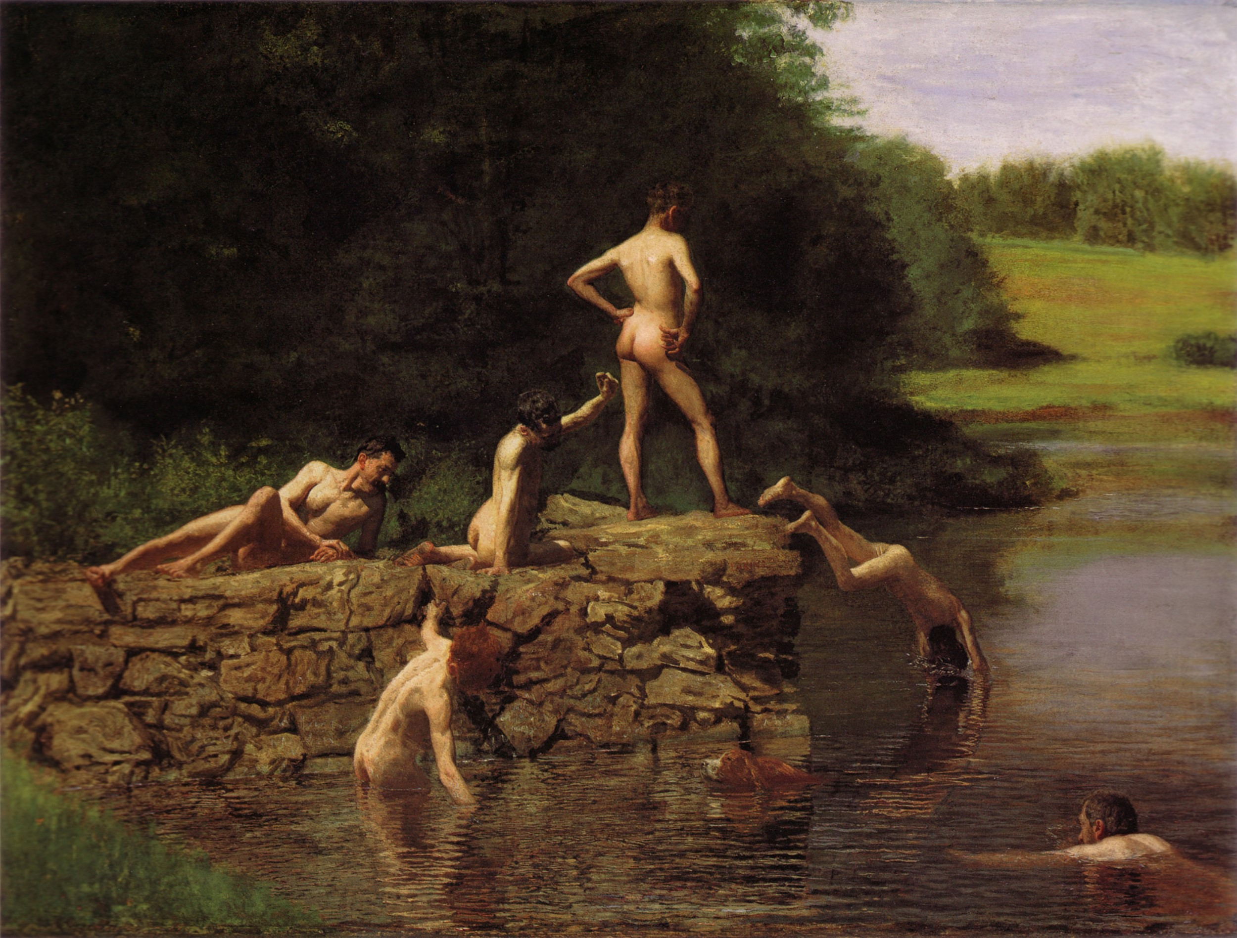 Image 1: Thomas Eakins –  Swimming , 1884. Oil on canvas. Amon Carter Museum of American Art, Fort Worth, TX