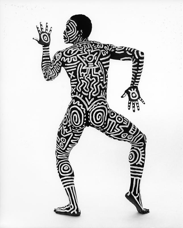Image 3: Keith Haring –  Bill T. Jones , 1983. Ink on photographic paper. Keith Haring Foundation, New York.