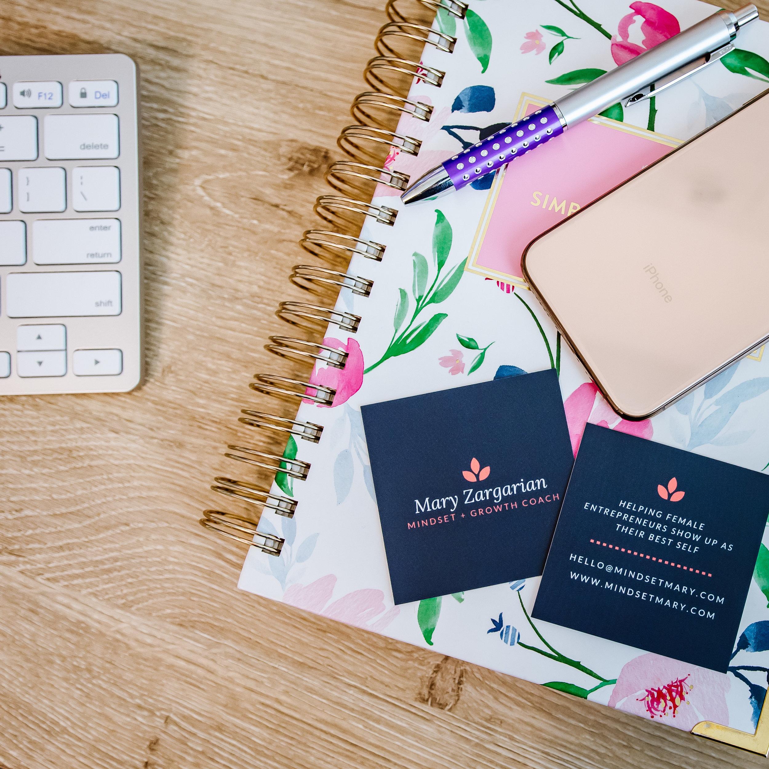 planning branding photo flatlay
