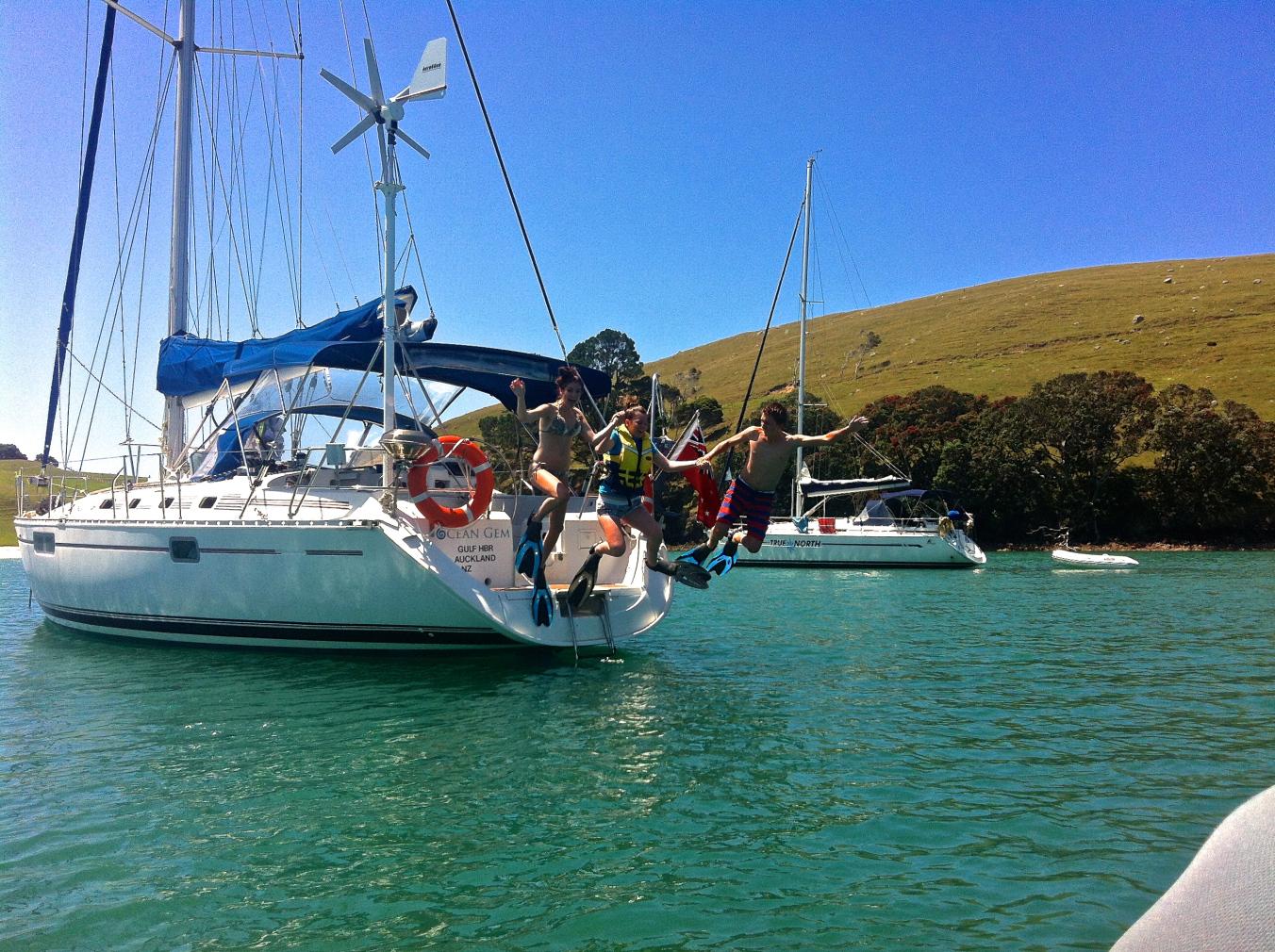 Anchored at Te Kouma Harbour, Coromandel
