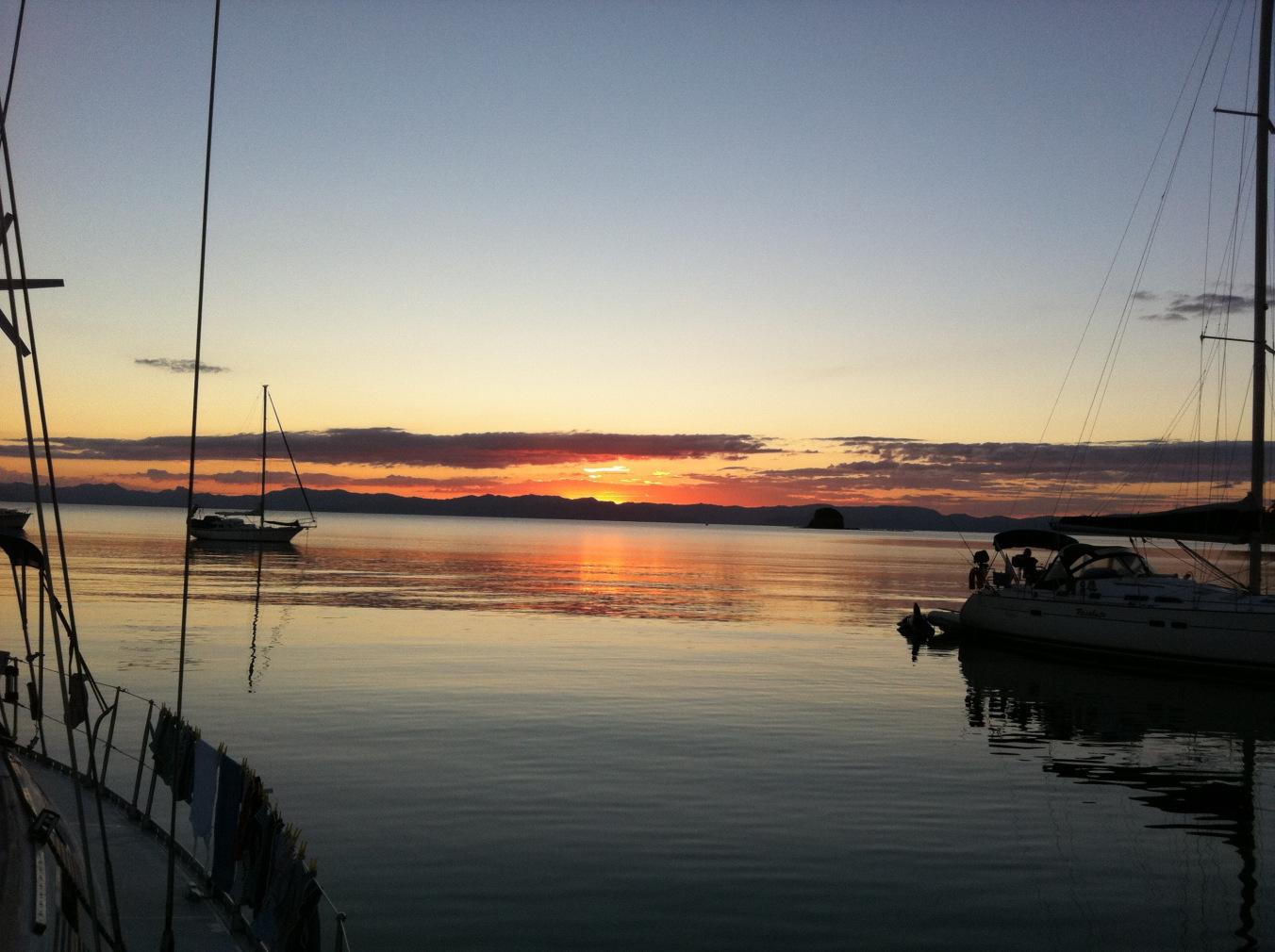 Sunset in Parapara Bay, Great Mercury Island