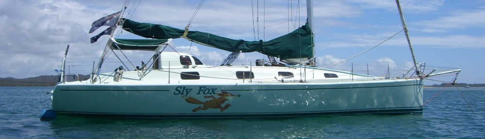 Slyfox; light, skinny and fast upwind