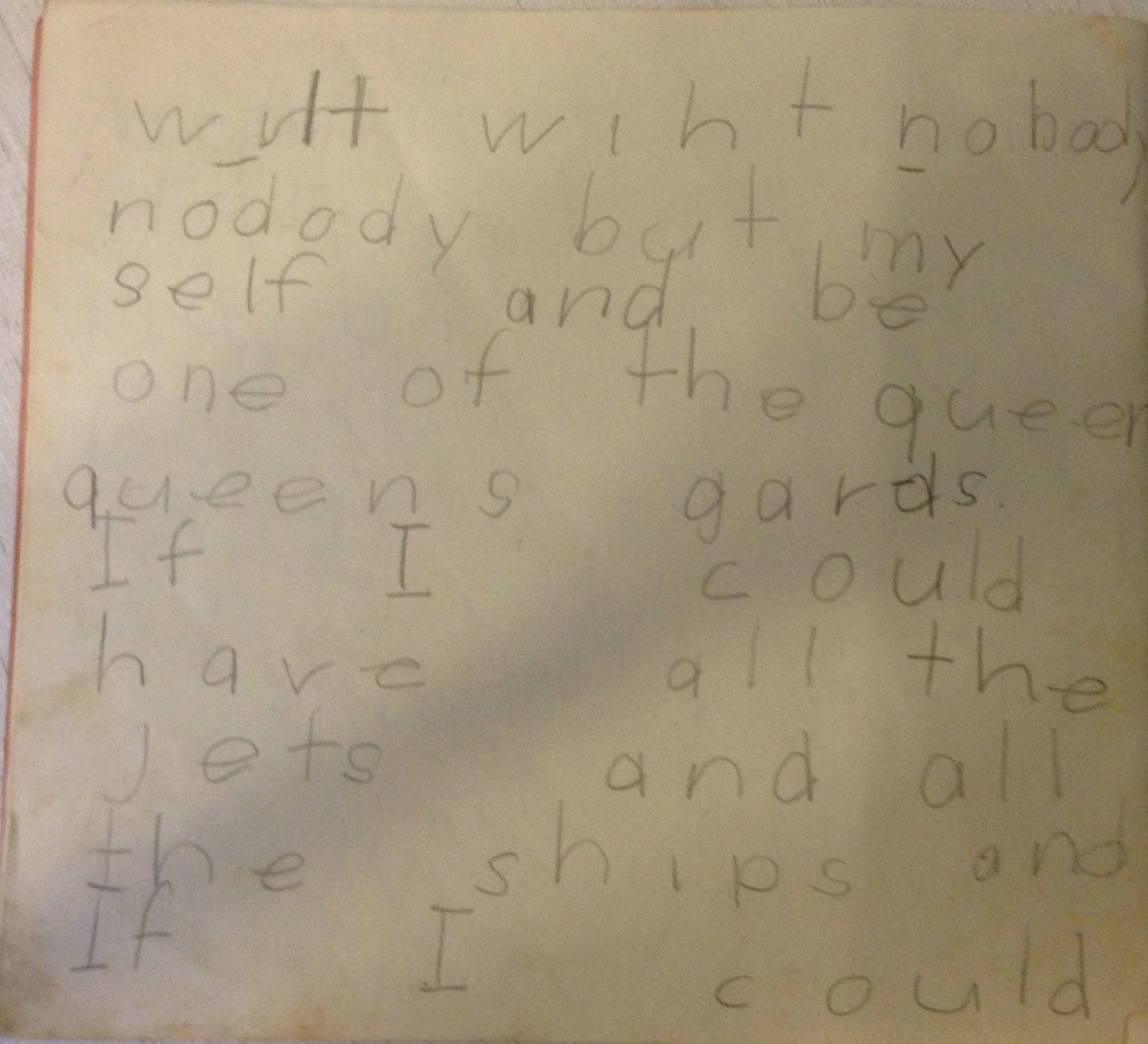 Andy's clearly articulated plan to circumnavigate alone in a yacht, written at age 6