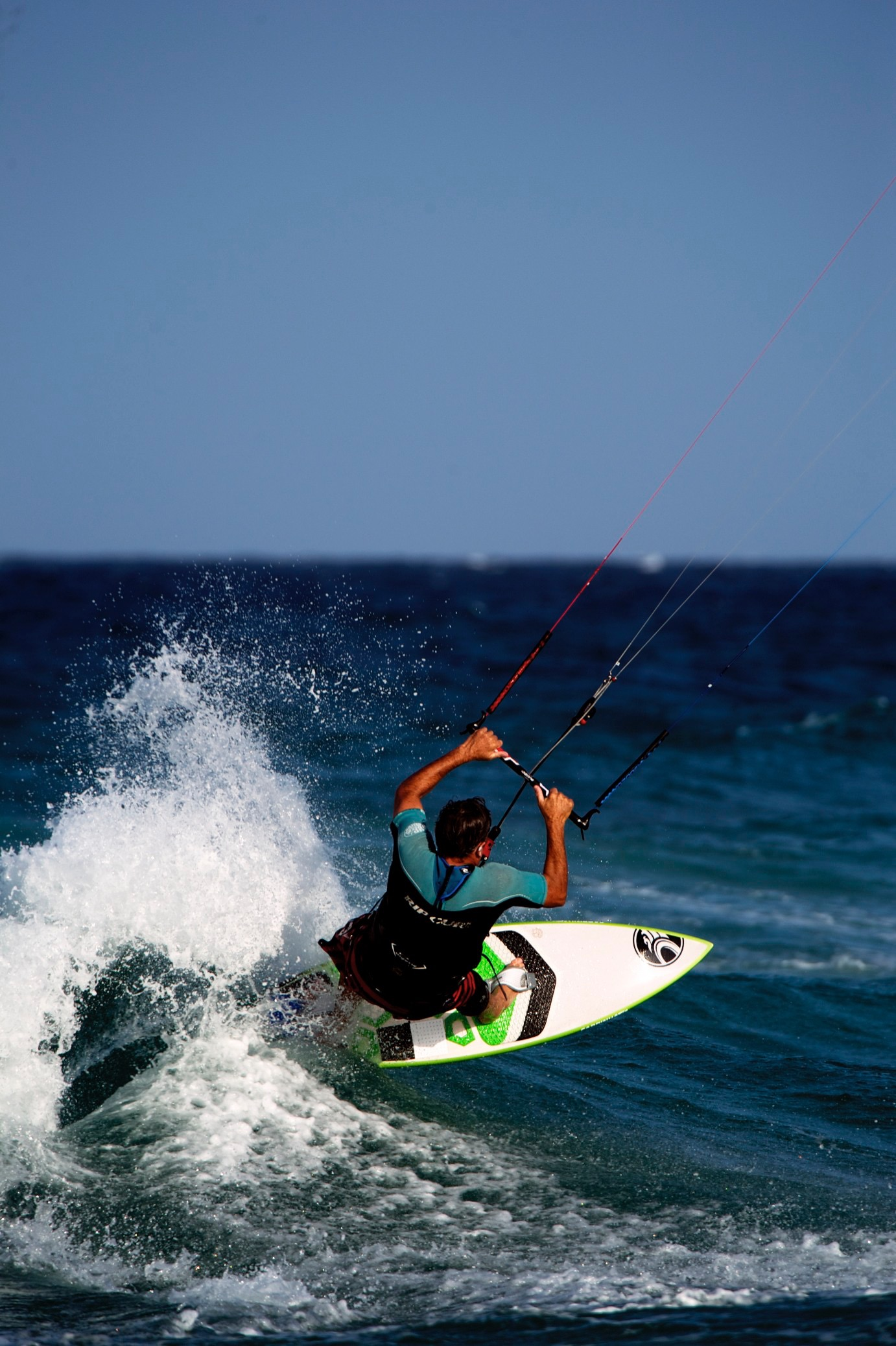 Andy in action in his kitesurfing training business