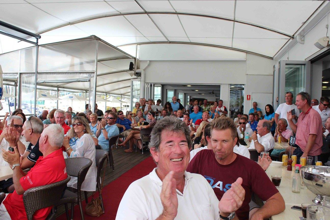 A great atmosphere at the Sail Paradise prize giving in 2016