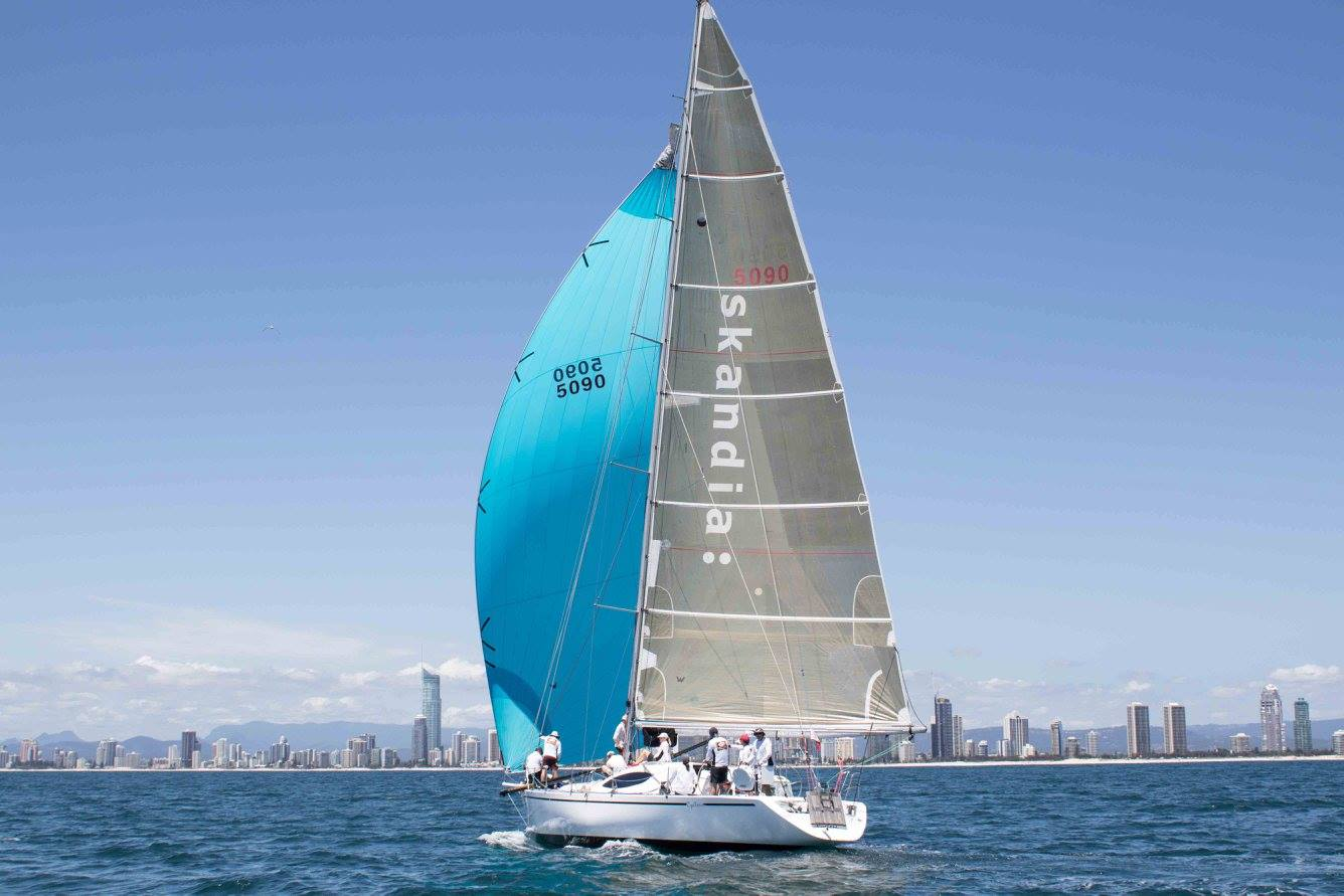 Cyclone the carbon hull,Frers 50 competing in Sail Paradise 2016
