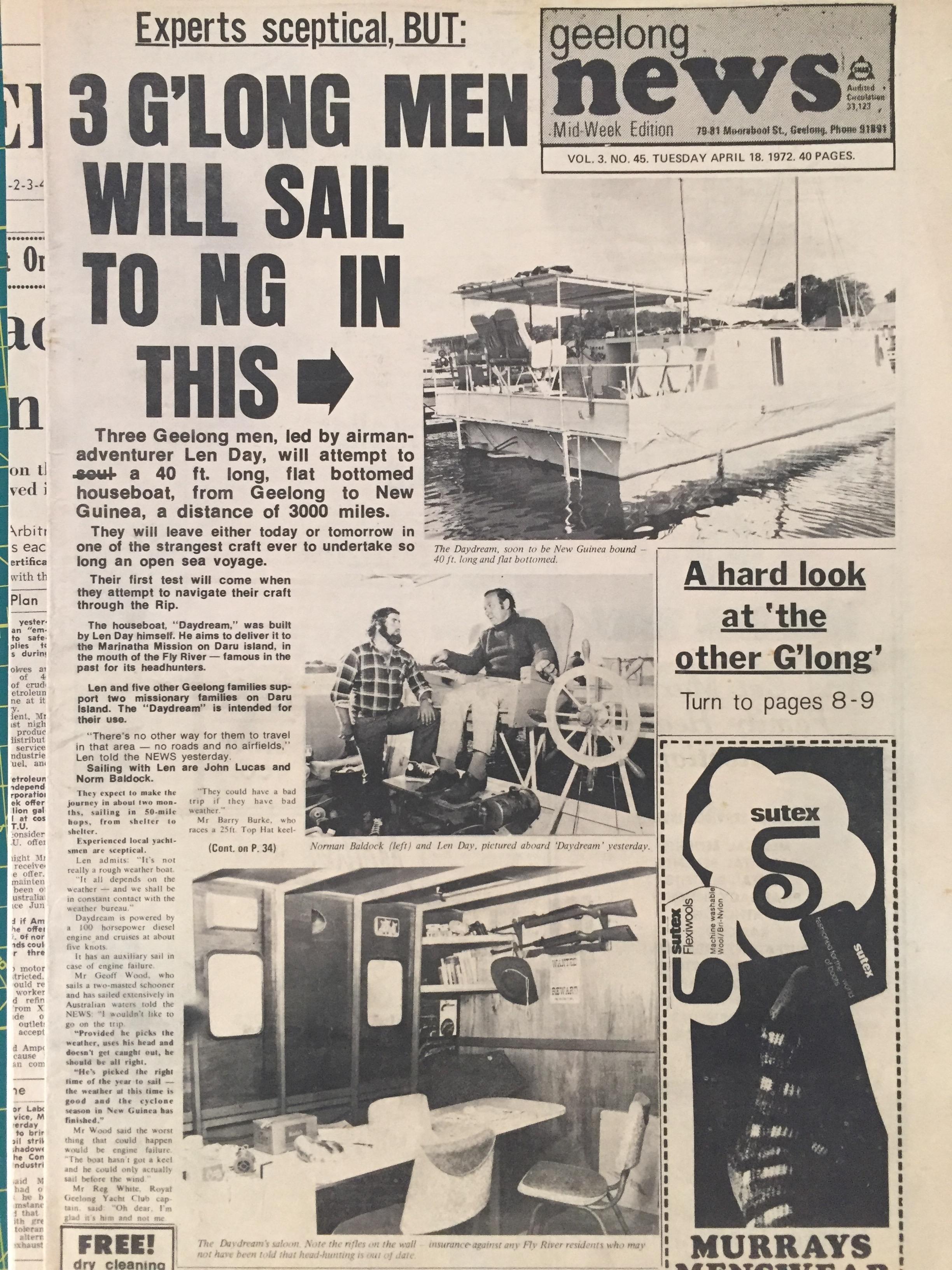 John Lucas Geelong to Thursday Island