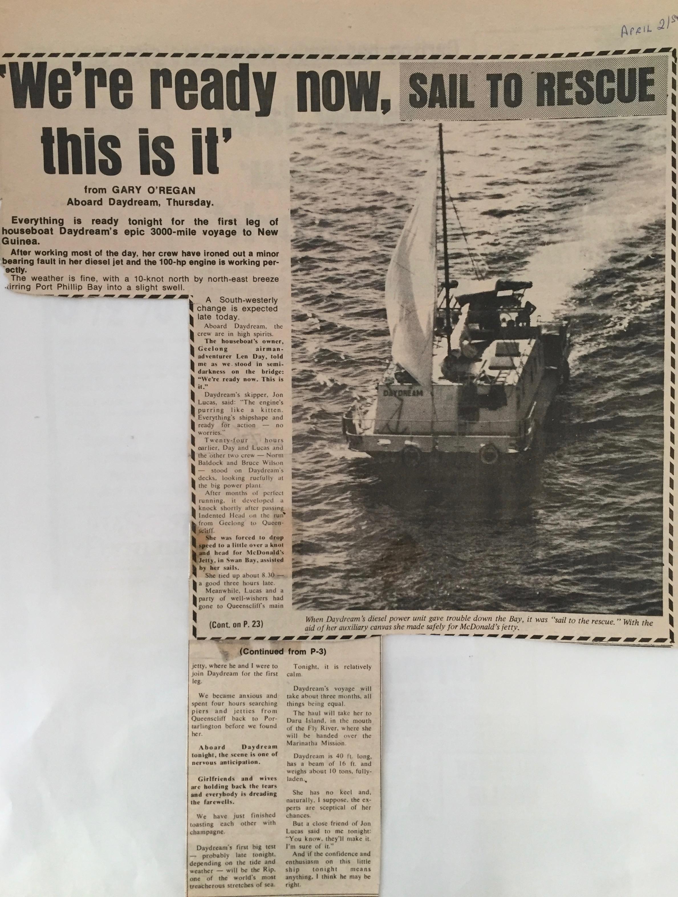 Sailing the East Coast of Australia