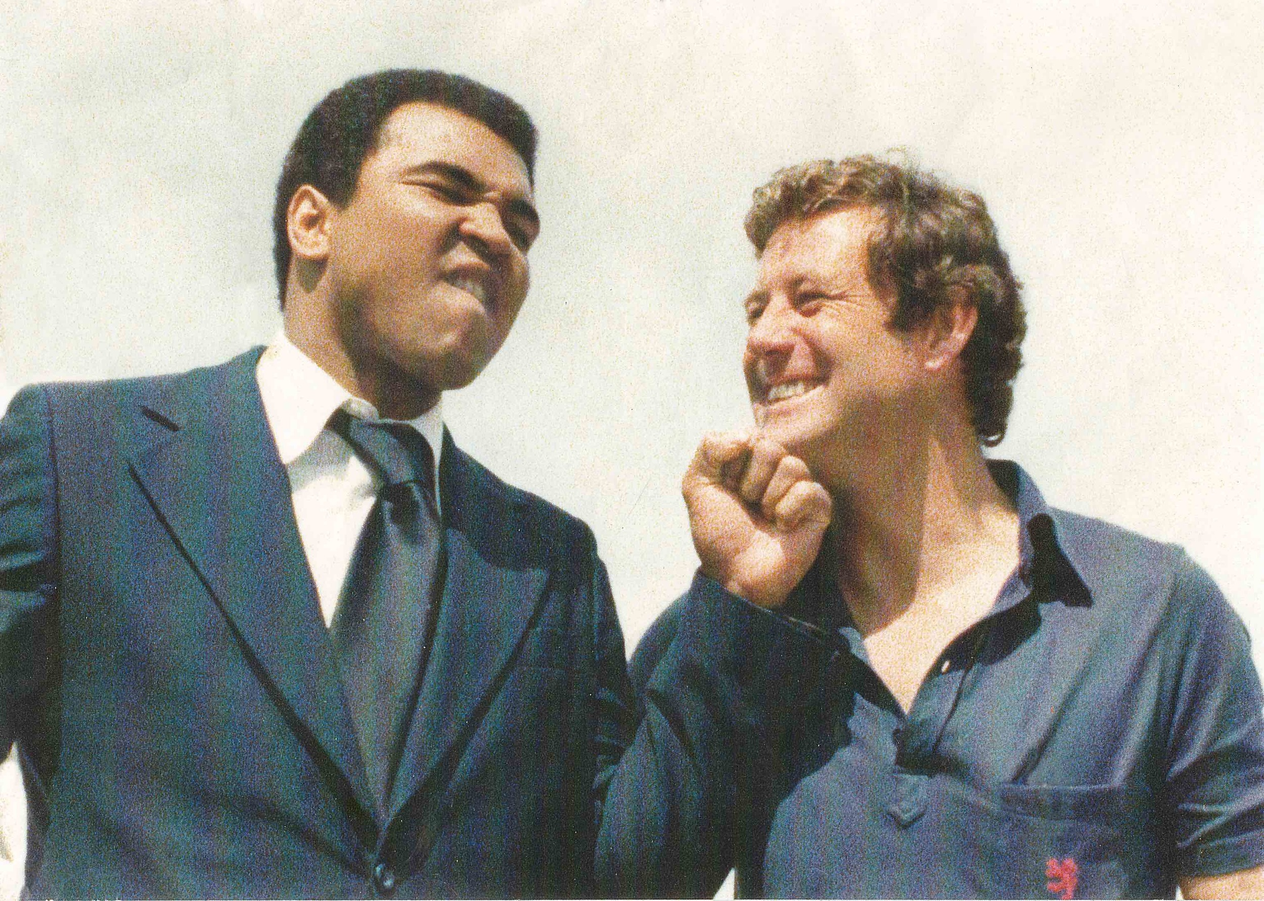 Muhammad Ali with Peter Montgomery after Peter's historic interview with him