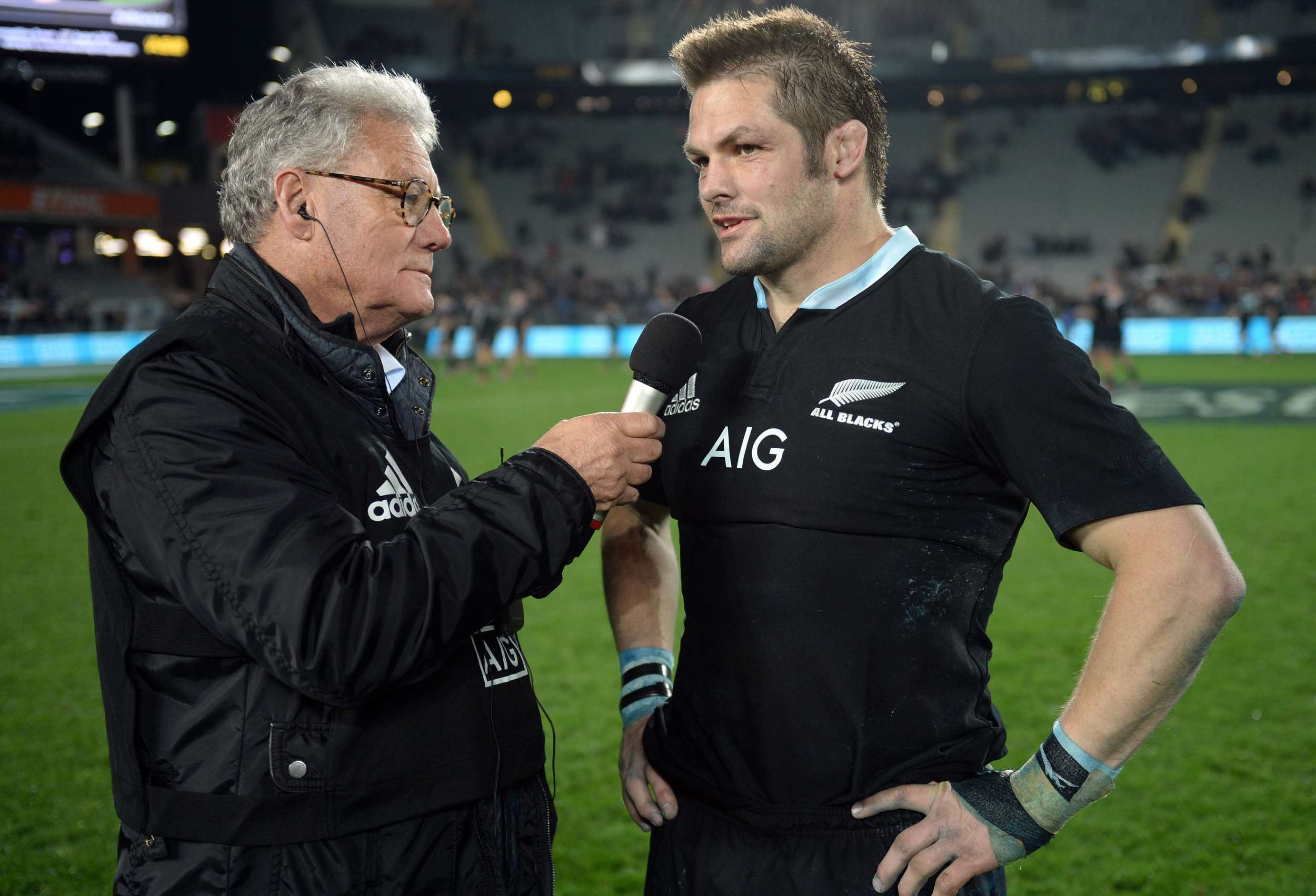 Peter Montgomery interviews All Black Captain Richie after has final test match