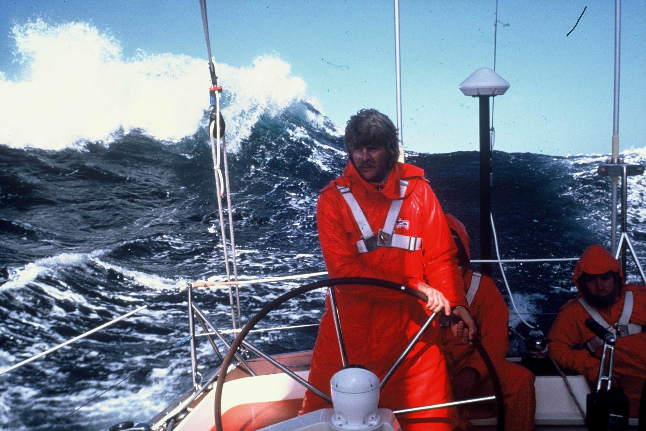"Peter Blake coined the phrase ""Liquid Himalayas"" describing his southern ocean sailing in the Whitbread Race"