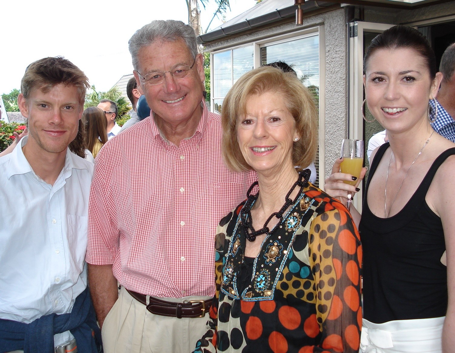The Montgomerys - Johnny, Peter, Claudia and Kate find plenty to smile about