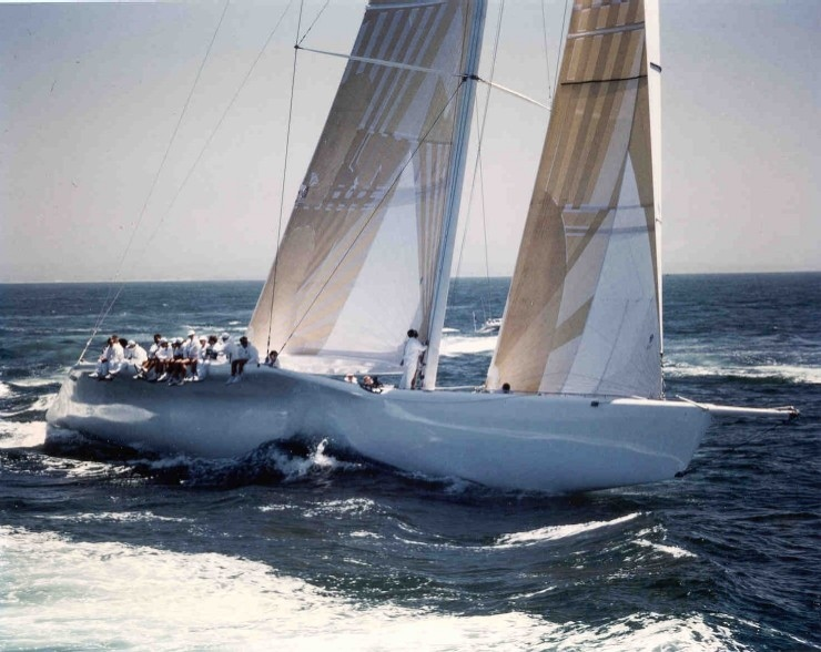 Sir Michael Fays KZ1 - the 130 foot 1988 Americas Cup Challenger