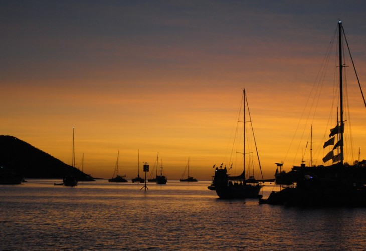 Another georgeous sunset for cruisers anchored at Shag Islet