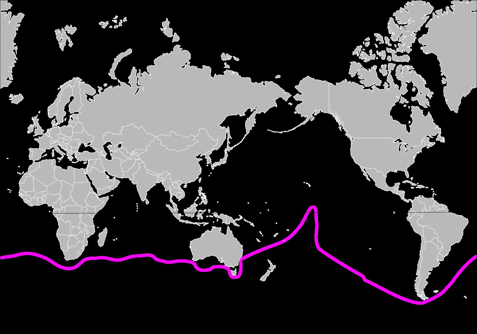 Jessica Watson's route around the world