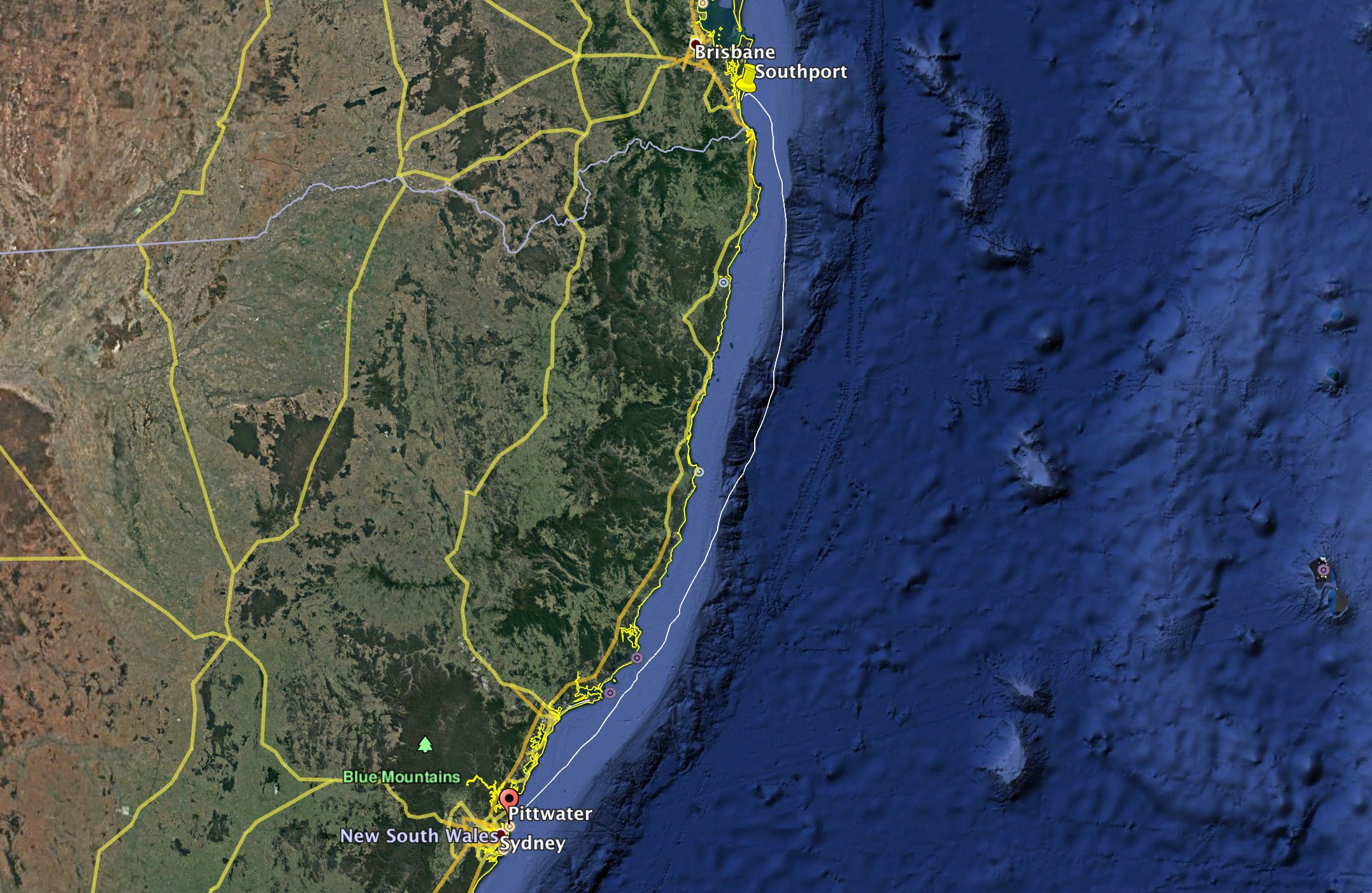 The 370nm race course from Pittwater to Southport