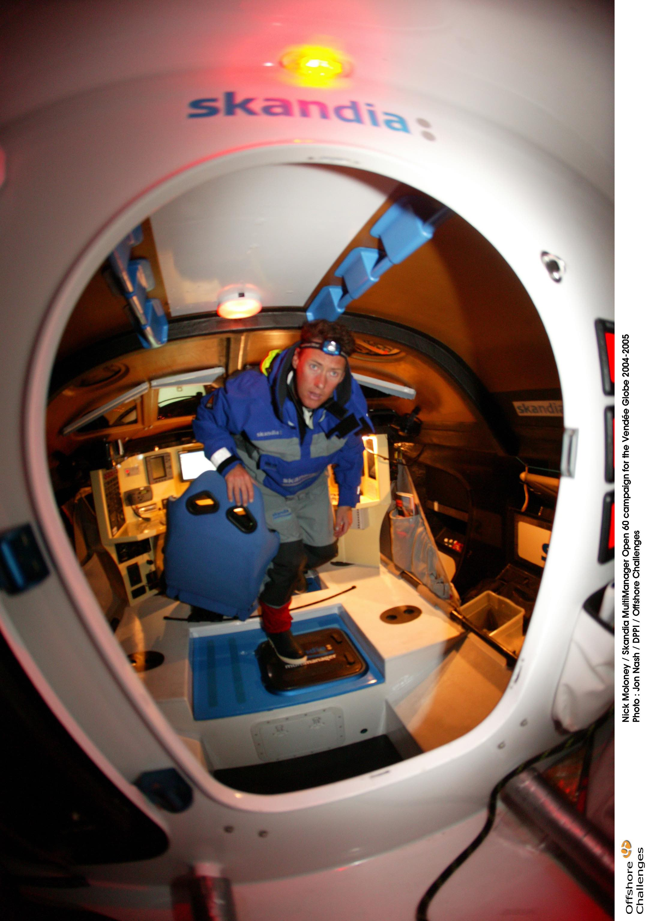 Nick Moloney sails Skandia in Vendee Globe