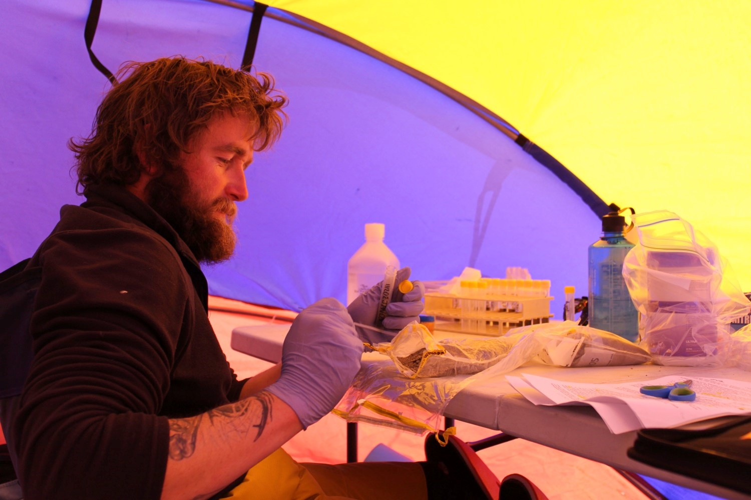 Microbiology in the field camp_Photo_ Adrian Corvino.jpg