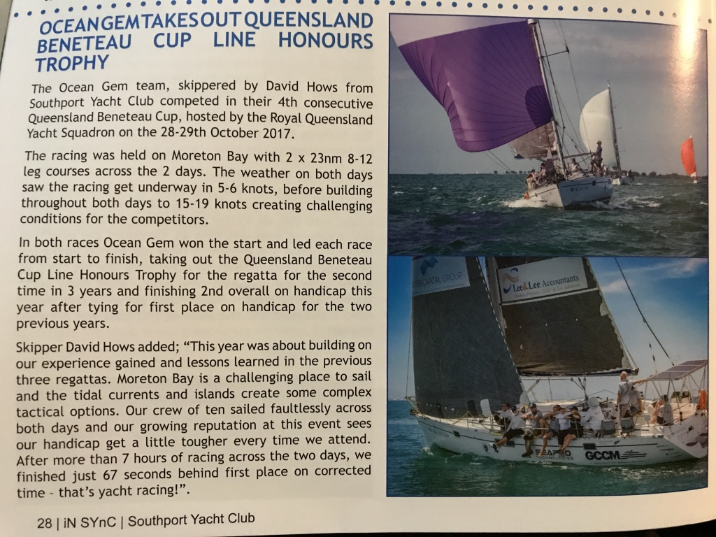 Queensland Beneteau Cup 2017. IN SYnC Magazine