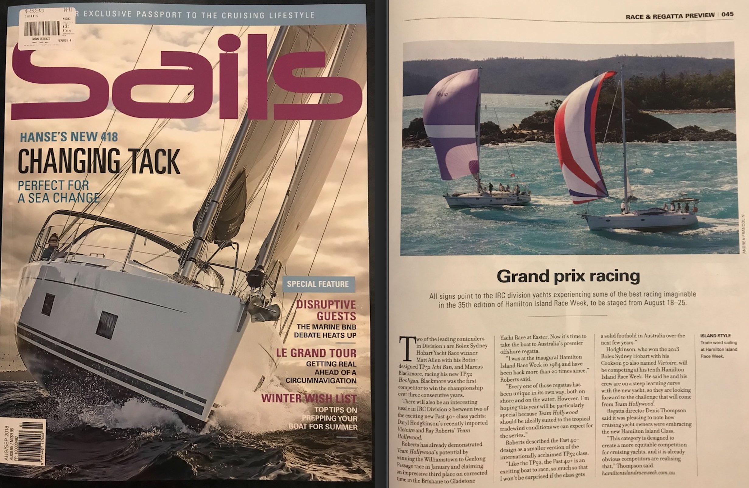 Hamilton Island Race Week 2018. Photo in Sails Magazine