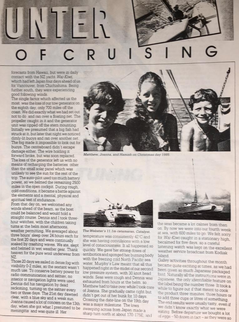 Seaspray Magazine Article Catalyst Dennis Webster