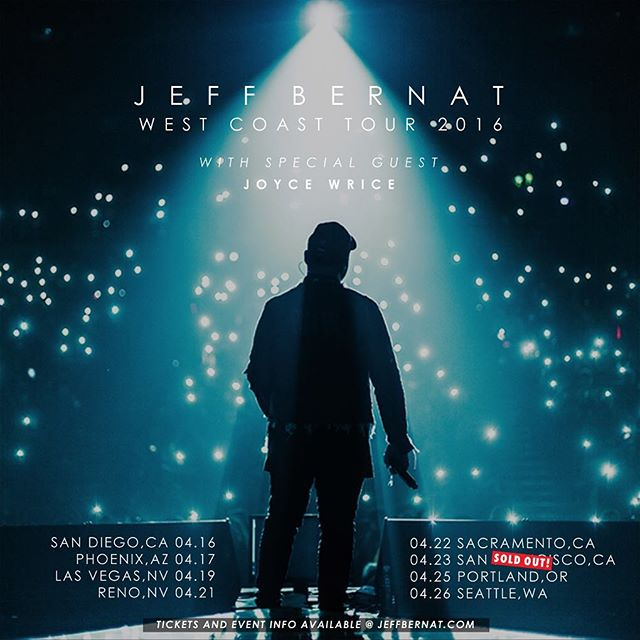 San Francisco is officially SOLD OUT!  For the other cities, get your tickets at jeffbernat.com/tour while they last!