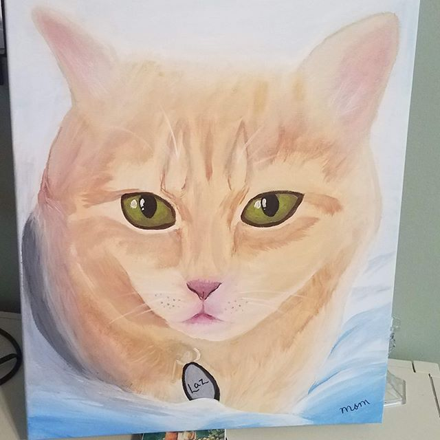 Two years ago, my mom painted this beautiful homage to my baby Lazarus, who had to be put down a few months earlier.  You can honor your precious pets who have crossed the rainbow bridge THIS SUNDAY with The Safe Haven Network!  Register today! http://ow.ly/lbrs50u1aGs
