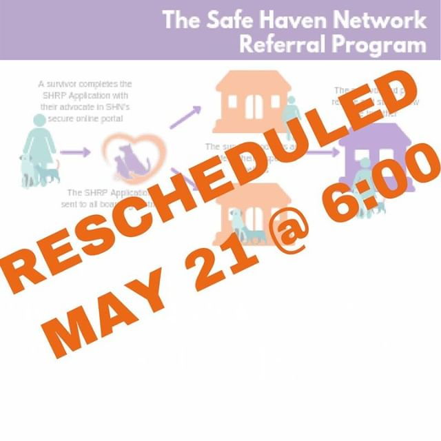 PLEASE NOTE: Due to an unexpected death in the family, SHN's monthly volunteer meeting has been postponed to May 21. http://ow.ly/gLpm50u8MSD
