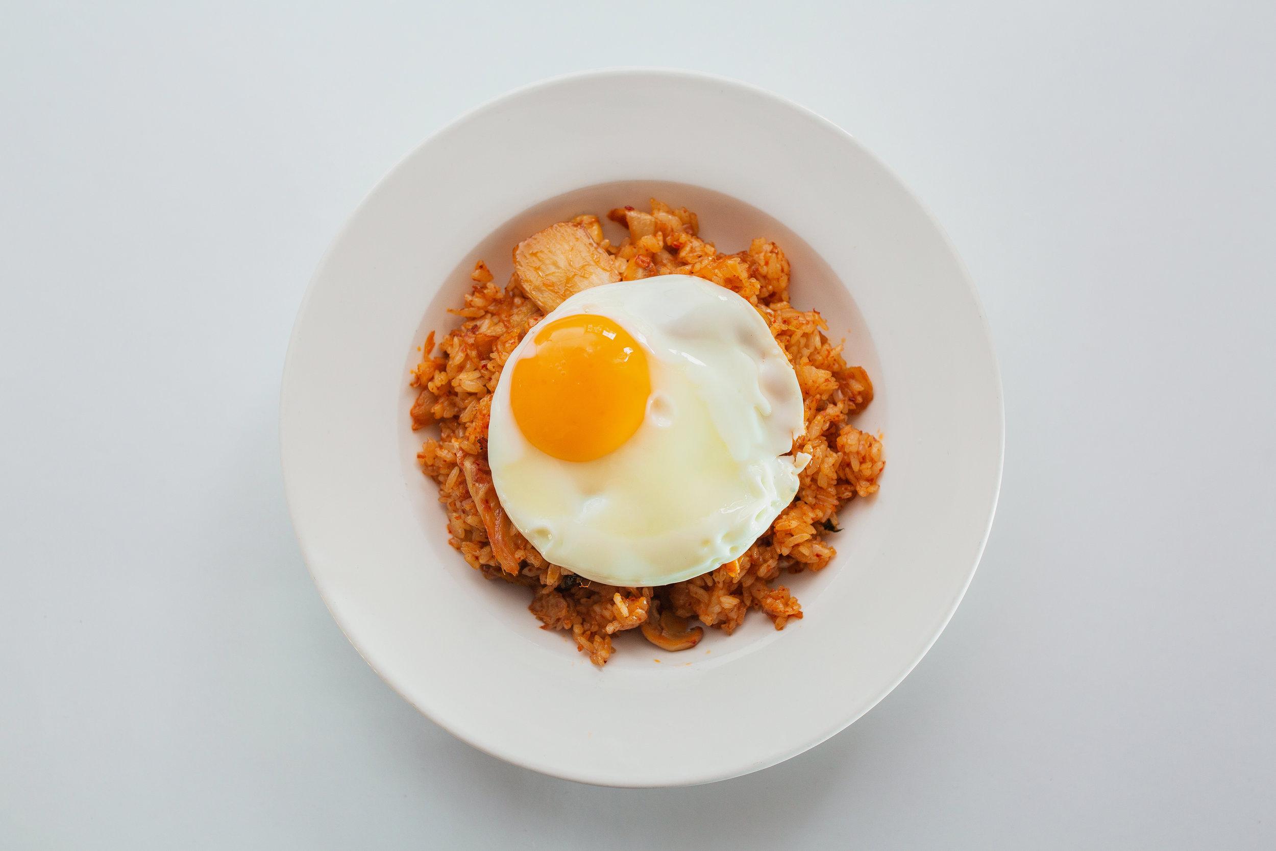Kimchi plov - Kimchi, mushroom, onion, rice, oyster sauce and egg290kgs