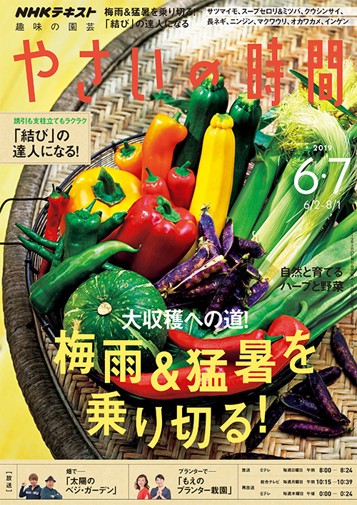 やさいの時間 6 ・7月号 - 巻頭ページに野菜で作る瓶詰めを紹介しています。