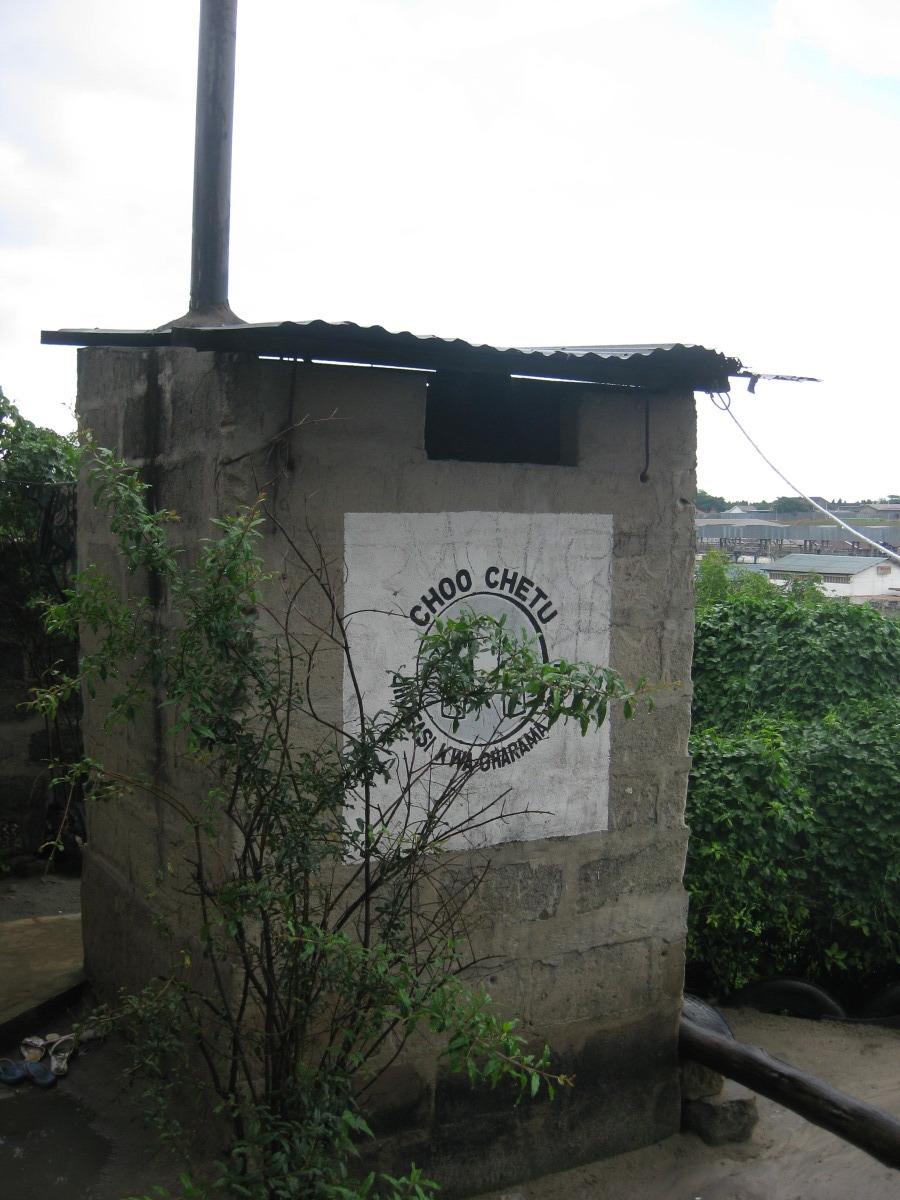 Nice pit latrine